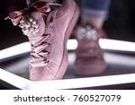 fashion sneakers. lighting... | Shutterstock . vector #760527079