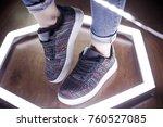 fashion sneakers. lighting... | Shutterstock . vector #760527085