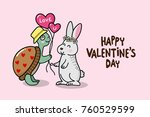happy valentine's day greeting... | Shutterstock .eps vector #760529599
