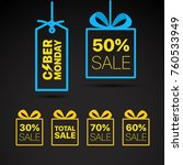 the cyber monday vector label.... | Shutterstock .eps vector #760533949