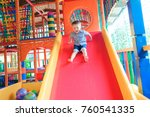 indoor playground with colorful ...   Shutterstock . vector #760541335