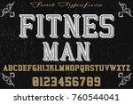 font script typeface vector... | Shutterstock .eps vector #760544041