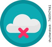 vector icon of a no connection... | Shutterstock .eps vector #760547461