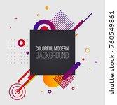 modern colorful vector... | Shutterstock .eps vector #760549861