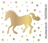 unicorn silhouette illustration ... | Shutterstock .eps vector #760550614