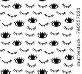 vector pattern with hand drawn... | Shutterstock .eps vector #760557031