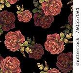 beautiful seamless floral... | Shutterstock . vector #760557061