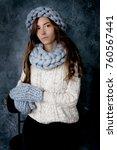 winter fashion accessories... | Shutterstock . vector #760567441