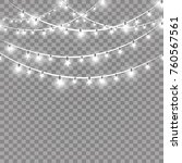 christmas lights isolated on...   Shutterstock .eps vector #760567561