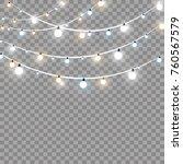 christmas lights isolated on...   Shutterstock .eps vector #760567579