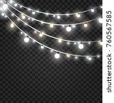christmas lights isolated on... | Shutterstock .eps vector #760567585