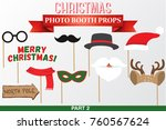 merry christmas photo booth... | Shutterstock .eps vector #760567624