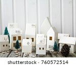 christmas  advent calendar   Shutterstock . vector #760572514