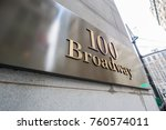 broadway street sign in new york | Shutterstock . vector #760574011