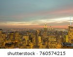 night view of new york...   Shutterstock . vector #760574215