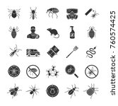 pest control glyph icons set.... | Shutterstock .eps vector #760574425
