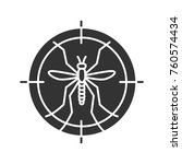 mosquitoes target glyph icon.... | Shutterstock .eps vector #760574434
