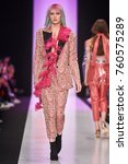 a model walks the runway on the ... | Shutterstock . vector #760575289