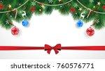 cute original merry christmas... | Shutterstock . vector #760576771