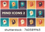 mind icons   modern flat design ... | Shutterstock .eps vector #760589965