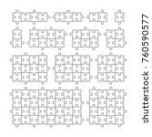 a lot of piece flat puzzle... | Shutterstock .eps vector #760590577