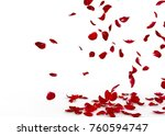 Stock photo rose petals fall to the floor isolated background 760594747