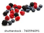 berries isolated on white... | Shutterstock . vector #760596091