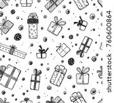 holiday vector seamless pattern.... | Shutterstock .eps vector #760600864