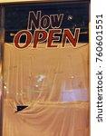 now open  yet closed | Shutterstock . vector #760601551