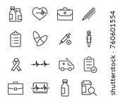 modern outline style medical... | Shutterstock .eps vector #760601554