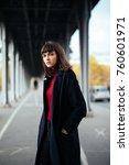 portrait of effective girl look ... | Shutterstock . vector #760601971