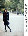 beautiful fashion young woman... | Shutterstock . vector #760604185