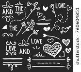 hand drawn love set  vector | Shutterstock .eps vector #760604851