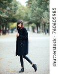 beautiful fashion young woman... | Shutterstock . vector #760605985