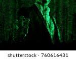 golden bitcoin in a man hand ... | Shutterstock . vector #760616431