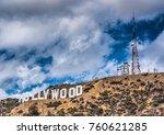 los angeles  ca  usa   october... | Shutterstock . vector #760621285