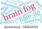 brain fog word cloud on a white ...   Shutterstock .eps vector #760622524