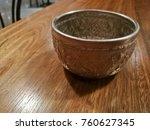 thai antique ancient aluminium... | Shutterstock . vector #760627345