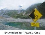 warning signage of beware of... | Shutterstock . vector #760627351