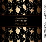 vintage baroque wedding... | Shutterstock .eps vector #760627801
