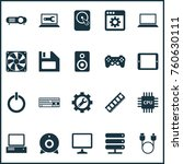 gadget icons set with desktop ... | Shutterstock .eps vector #760630111