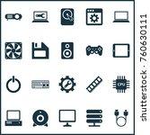 gadget icons set with desktop ... | Shutterstock .eps vector #760630111