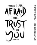 hand lettering when i am afraid ... | Shutterstock .eps vector #760632661