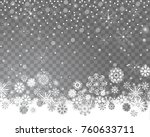snowflakes on a transparent... | Shutterstock .eps vector #760633711