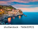 second city of the cique terre... | Shutterstock . vector #760633921