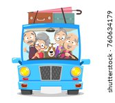 vector illustration of group of ... | Shutterstock .eps vector #760634179