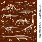 pattern of skeletons of... | Shutterstock .eps vector #760636861