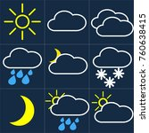 weather  weather icons  cloud ... | Shutterstock .eps vector #760638415