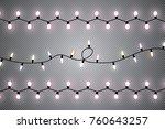 christmas lights isolated on... | Shutterstock .eps vector #760643257