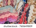 art cloth. crumpled texture ... | Shutterstock . vector #760649809